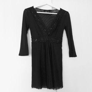 Express mesh embellished tunic